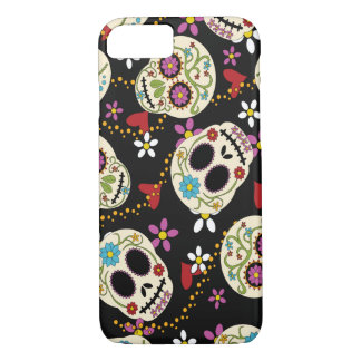 Hearts and Flowers Sugar Skulls iPhone 7 Case