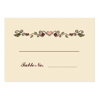 Hearts and Flowers Table Seating Large Business Card