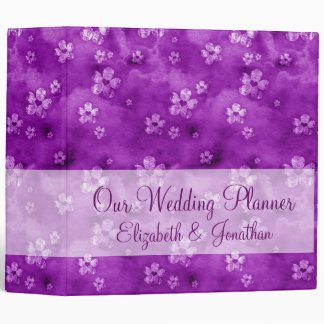 Hearts and Flowers Wedding Planner 3 Ring Binder