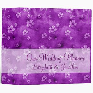 Hearts and Flowers Wedding Planner Binder