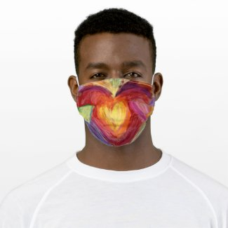 Hearts and Hands Love Diversity Custom Face Masks