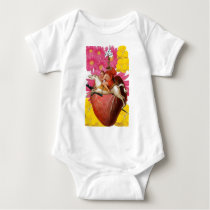 Hearts and Horses Baby Bodysuit