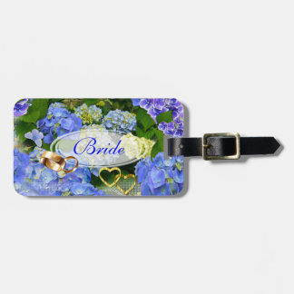 Hearts and Hydrangeas Bag Tag