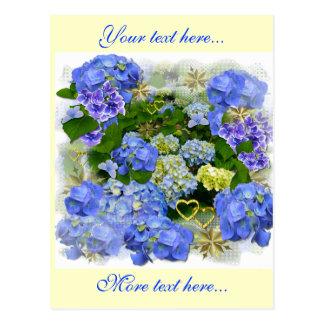 Hearts and Hydrangeas Postcard