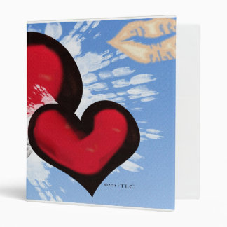 Hearts and Kisses 3 Ring Binder