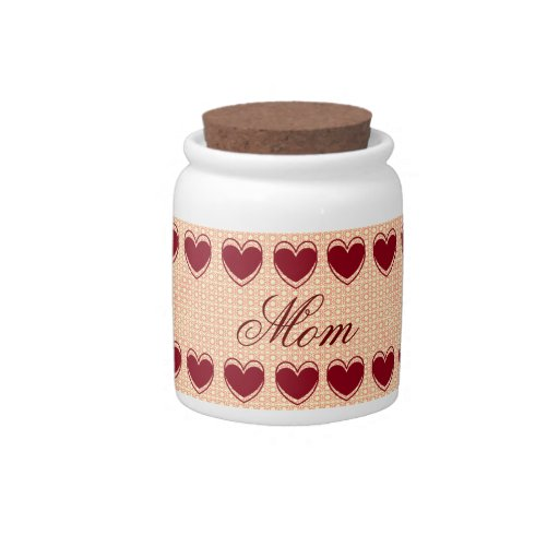 HEARTS AND LACE CANDY JAR FOR MOM