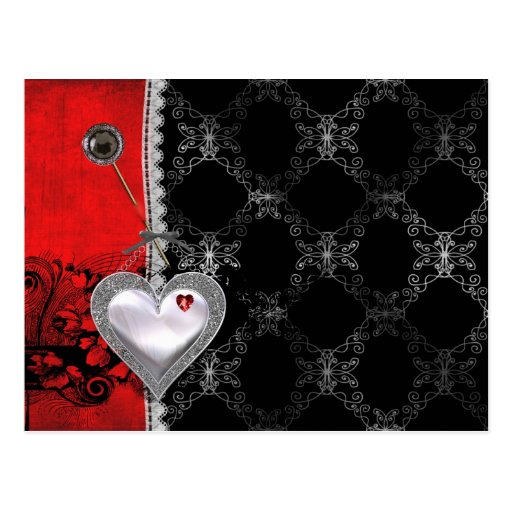 Hearts and Lace Postcard