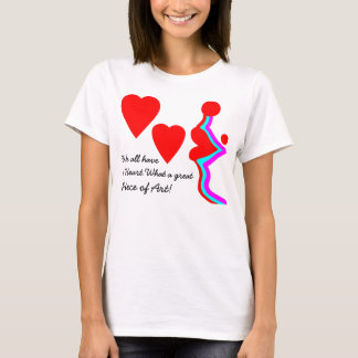 Hearts and lips modern design in bold colours. T-Shirt