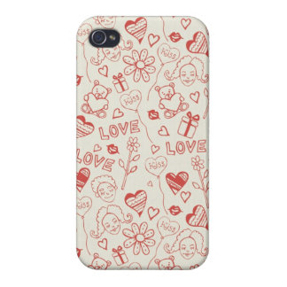 Hearts and Love iPhone 4/4S Case