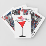 Hearts and Love Martini Bicycle Playing Cards