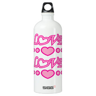 Hearts and Love Water Bottle