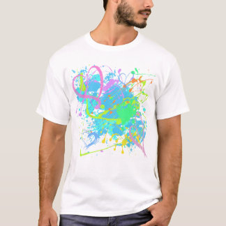 HEARTS AND PAINT SPLATTER T-Shirt
