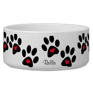 Hearts And Pawprints Bowl