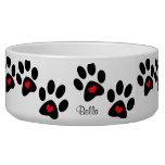 Hearts And Pawprints Dog Food Bowl