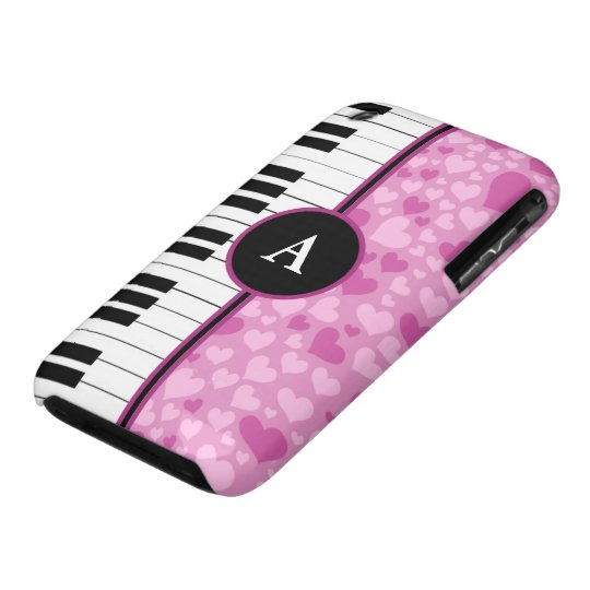 hearts and piano iPhone 3 case