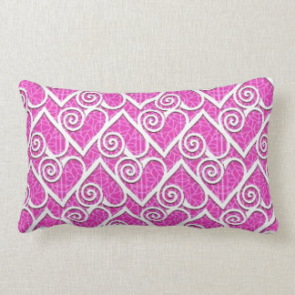 Hearts and Pink Throw Pillows