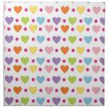 hearts and polka dots napkin