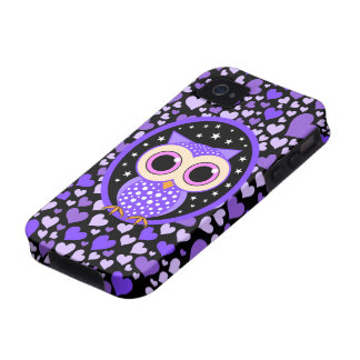 hearts and purple owl iPhone 4/4S covers