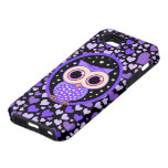 hearts and purple owl iPhone 5 case