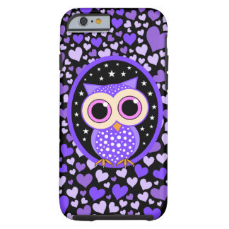 hearts and purple owl iPhone 6 case