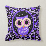 hearts and purple owl pillows