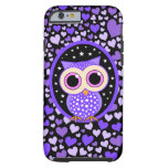 hearts and purple owl tough iPhone 6 case