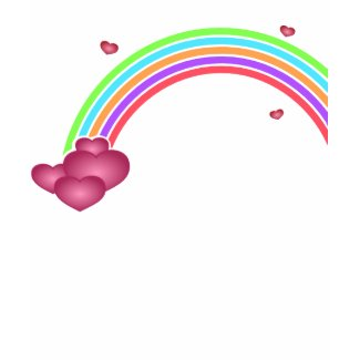Hearts and Rainbows T-Shirt shirt