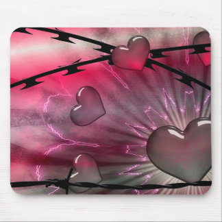 Hearts and Razor Wire Mouse Pad