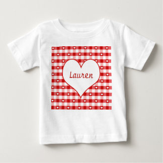Hearts and Red Gingham Baby T-Shirt