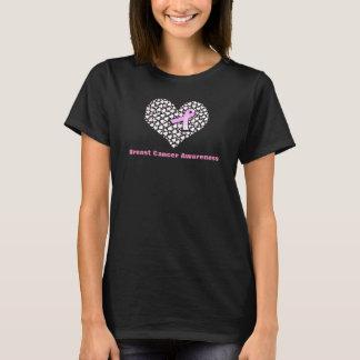 Hearts and Ribbon Breast Cancer Awareness Shirt