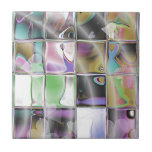 Hearts and Rings Unique Colorful Ceramic Tile