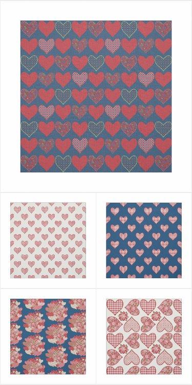 Hearts and Roses Fabrics