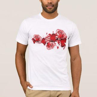 hearts and roses grunge tshirt
