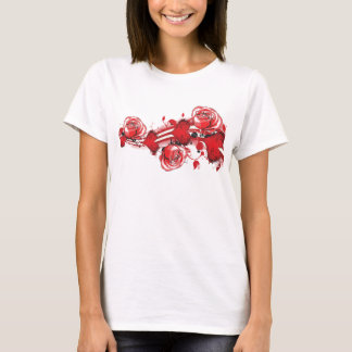 hearts and roses grunge tshirt ladies