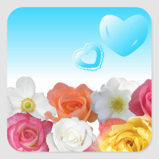 Hearts and Roses Sticker