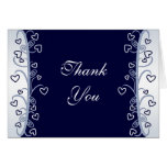 Hearts and Scrolls Thank You Card