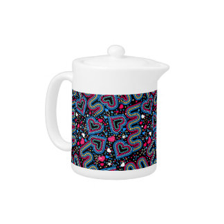 Hearts and sequins teapot