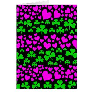 hearts and shamrocks card