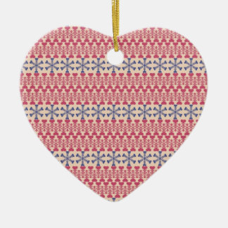 Hearts and Snowflakes Ornament