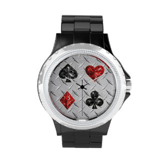 Hearts and Spears Playing Cards Watch