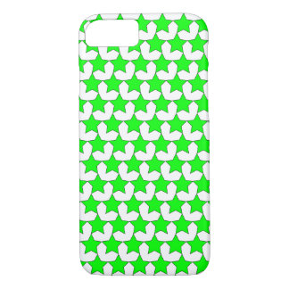 HEARTS AND STARS GREEN/WHITE iPHONE 7/8 CASE