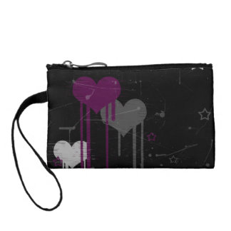 Hearts and Stars key coin clutch