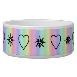 hearts and stars on rainbow bowl
