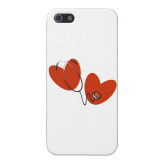 Hearts and Stethoscope and Gifts Cover For iPhone SE/5/5s