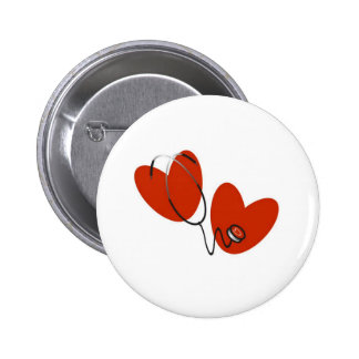 Hearts and Stethoscope Pins