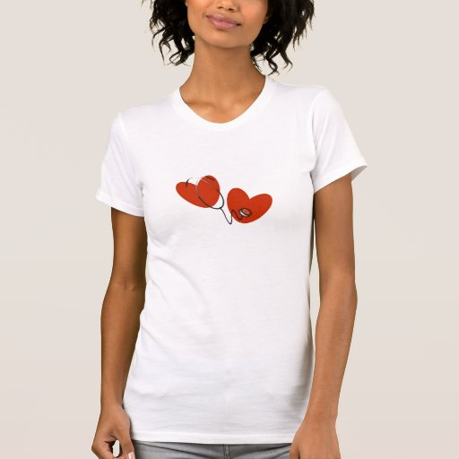 Hearts and Stethoscope T-shirts and Gifts