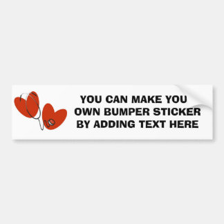 Hearts and Stethoscope T-shirts and Gifts Bumper Sticker