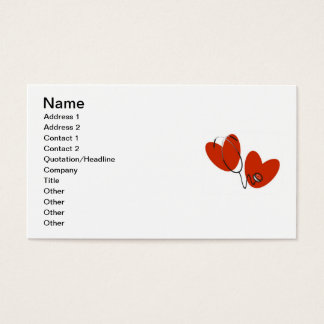 Hearts and Stethoscope T-shirts and Gifts Business Card