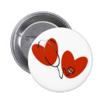Hearts and Stethoscope T-shirts and Gifts Button