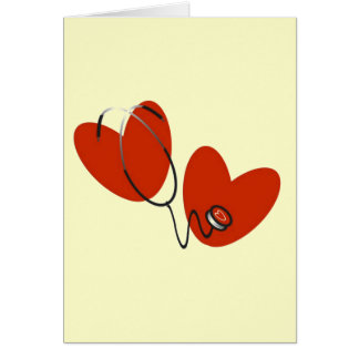 Hearts and Stethoscope T-shirts and Gifts Greeting Card